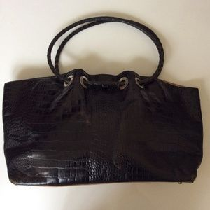 Susan farber leather tote.